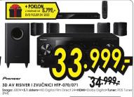 3D AV RISIVER I ZVUČNICI HTP- 070/071 + DVD