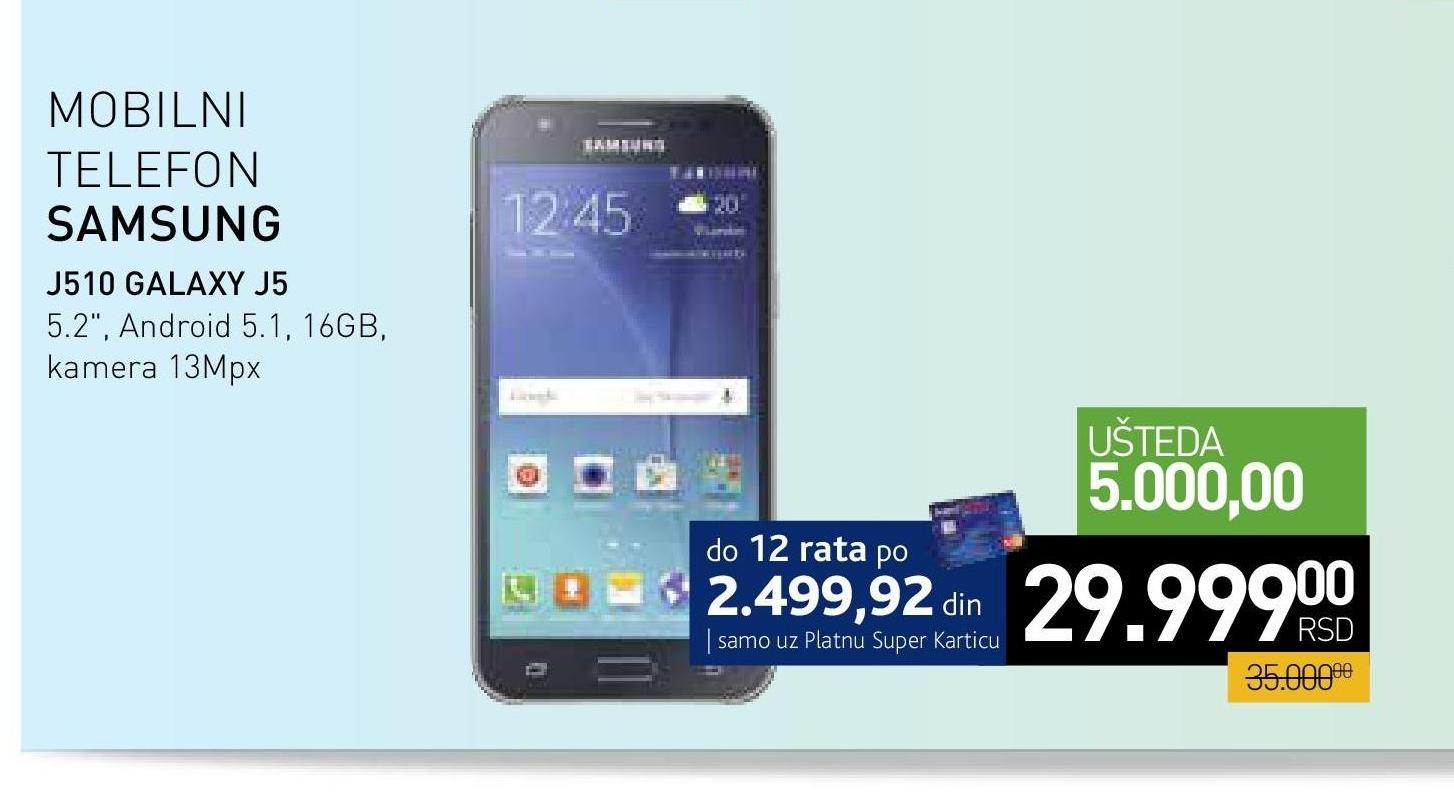 Mobilni Telefon  J510