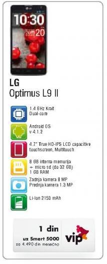 Mobilni telefon Optimus L9 II