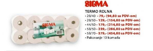 Termo rolna 58/50