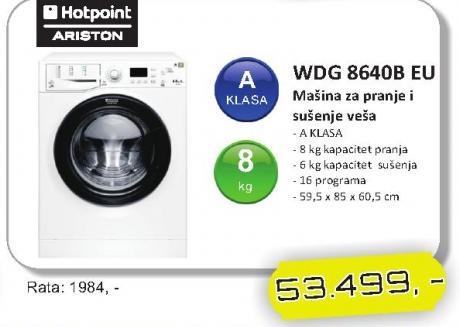 Mašina za pranje i sušenje veša WDG 864OB EU