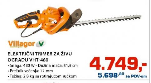 ELEKTRIČNI TRIMER ZA ŽIVU OGRADU VHT-480
