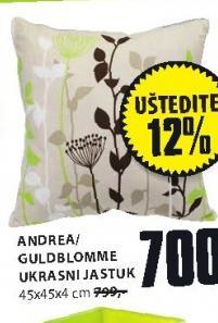 Ukrasni jastuk Andrea Guldblomme