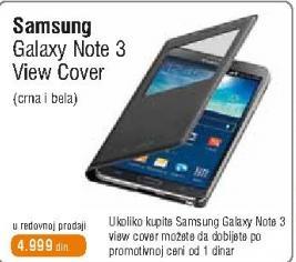 Uzkupovinu Galaxy note 3 sledi View Cover za 1 dinar.