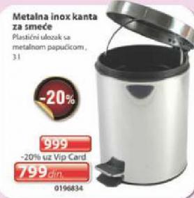 Metalna inox kanta
