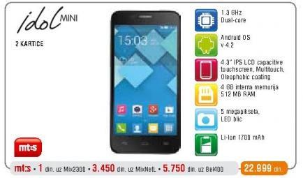 Mobilni telefon Idol Mini