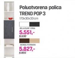 Poluotvorena polica Trend pop 3