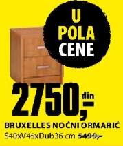BRUXELLES NOĆNI ORMARIĆ