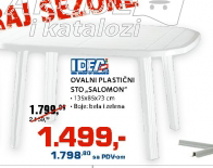 Ovalni plastični sto ''Salomon''