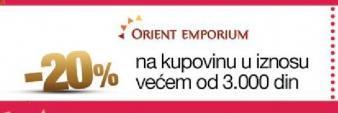 20% popusta u Orient Emporium