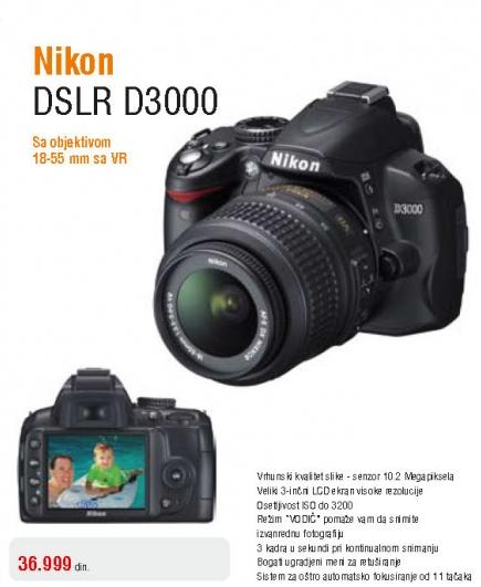 Fotoaparat Coolpix D3000