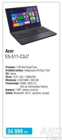 Laptop E5-511-C3j7