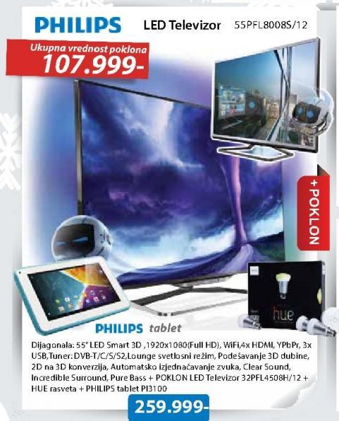Televizor LED LED 3D 55PFL8008S/12