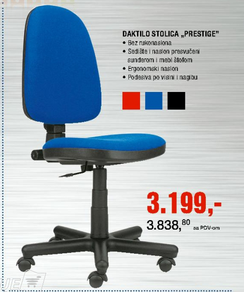 Daktilo stolica ''Prestige''