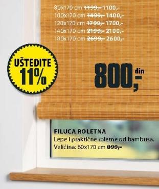 Roletna Filuca 100x170cm