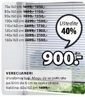 Venecijaneri 80x160cm