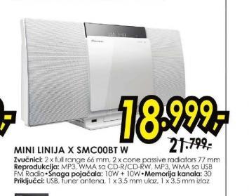 Mini linija X-SMC00BT-W