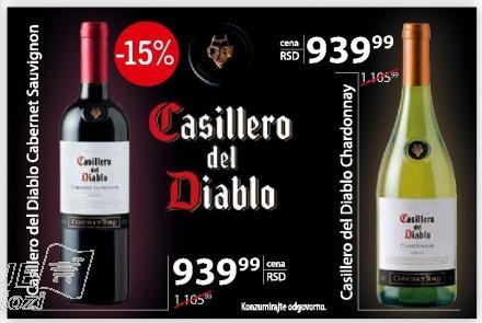 Belo vino Casillero del Diablo