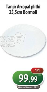Tanjir Arcopal plitki 25.5cm Bormoli