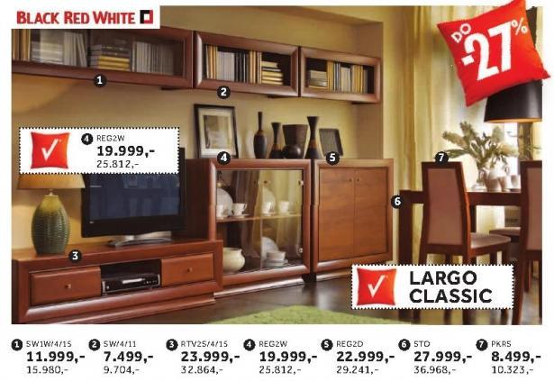 Polica Sw/4/11 Largo Classic Black Red White