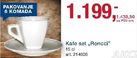 Kafe set Ronnci