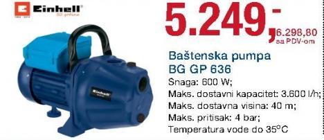 Baštenska pumpa Bg Gp 636