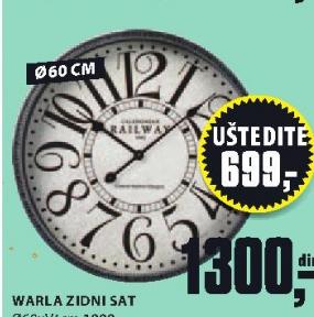 Zidni sat Warla