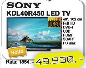 """Televizor LED 40"""" Kdl40r450"""