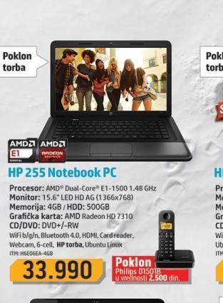 Laptop H6E06EA-4GB
