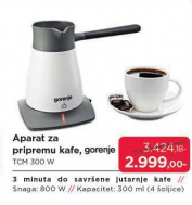 Aparat za pripremu kafe TCM 300 W