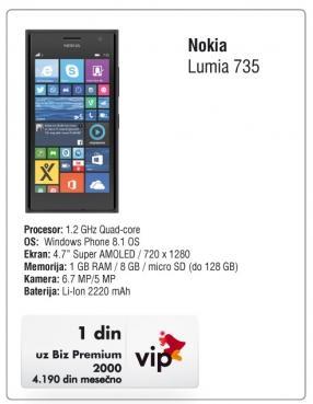 Mobilni telefon Lumia 735