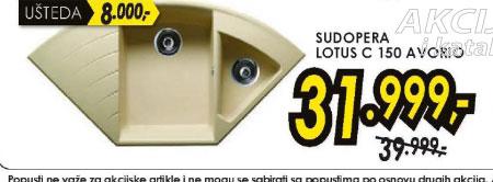 Sudopera LOTUS C 150 Avorio