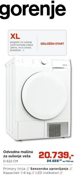 Odvodna mašina za sušenje veša D 622 Cm