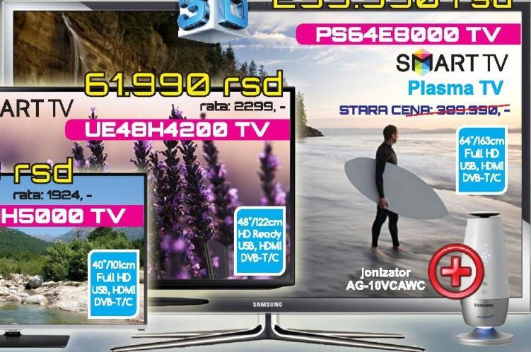 """Televizor 3D Plasma 64"""" PS64E8000"""