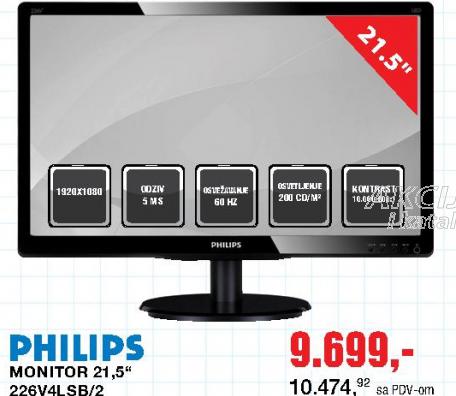 Monitor 21,5'', 226V4LSB/2