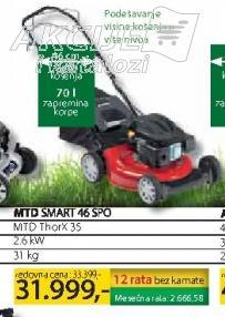 Motorna kosačica MTD Smart 46 SPO