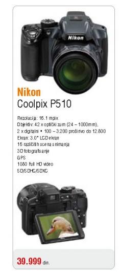 Fotoaparat Coolpix P510