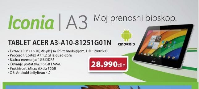 TABLET ACER A3-A10-81251G01N