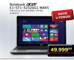 Notebook E1-571-3232GG1 MAKS