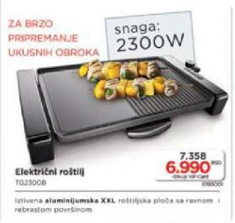 Električni Roštilj Tg2300B