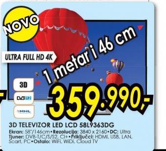 Televizor LED LCD 58L9363DG