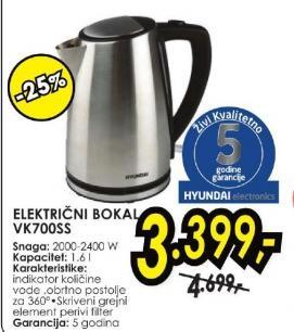 Električni Bokal VK 700SS