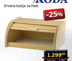 Drvena kutija za hleb