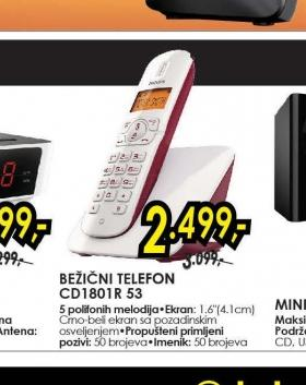 Bežični telefon CD 1801R/53