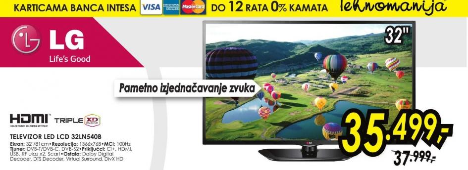 Televizor LED 32LN540B