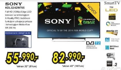 """Televizor LED 32"""" Kdl32w705"""