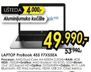 Laptop ProBook 455 F7x55ea