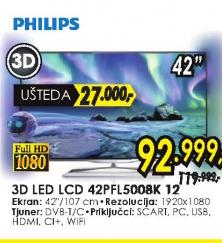 Televizor 3D LED LCD 42PFL5008K 12