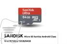 Mikro Sd Kartica Androdi Class 10, 64GB