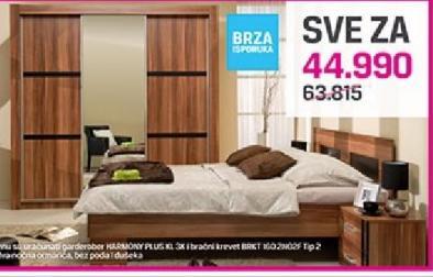 Garderober Harmony PLUS KL 3K i krevet BRKT 160 2N02F Tip 2